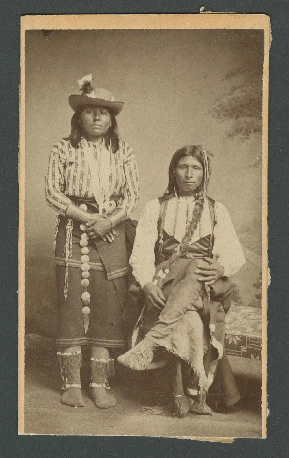 Kichai man and woman, in Indian Territory - 1