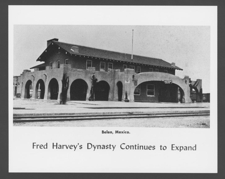 Atchison, Topeka & Santa Fe Railway Company's Fred Harvey House, Belen, New  Mexico - 1