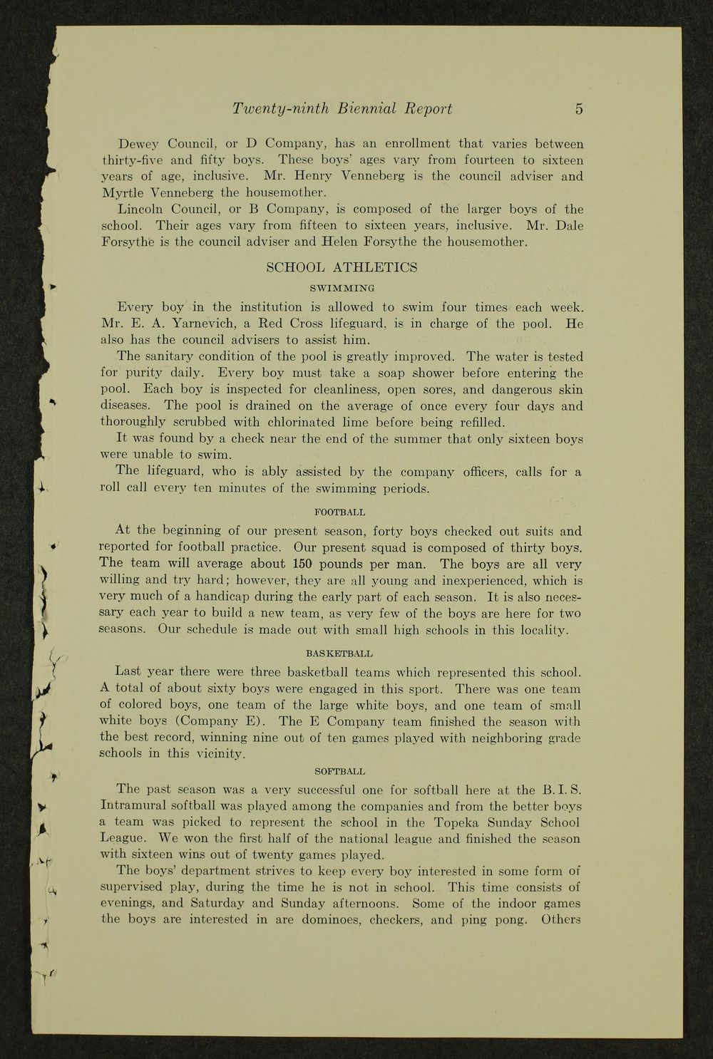 Biennial report of the Boys Industrial School, 1938 - 5
