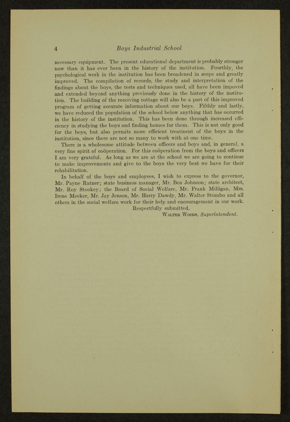 Biennial report of the Boys Industrial School, 1940 - 4