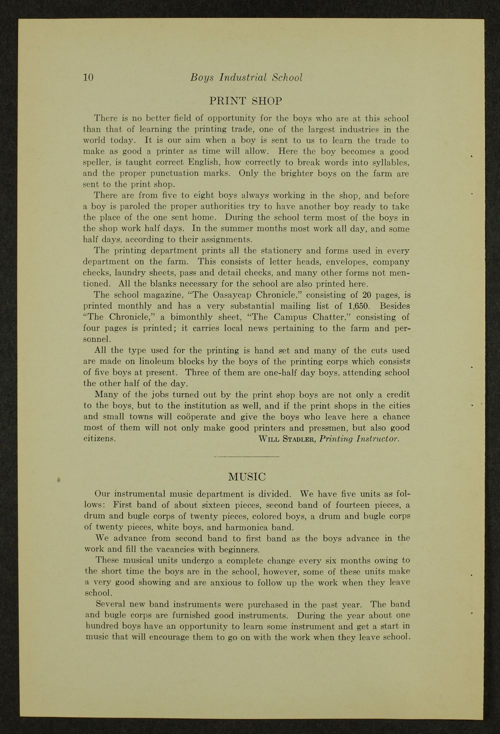 Biennial report of the Boys Industrial School, 1940 - 10