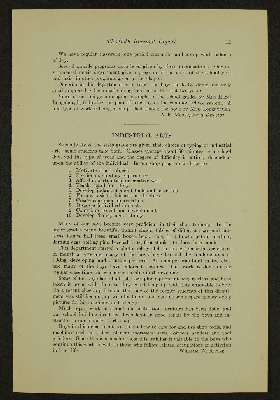 Biennial report of the Boys Industrial School, 1940 - 11
