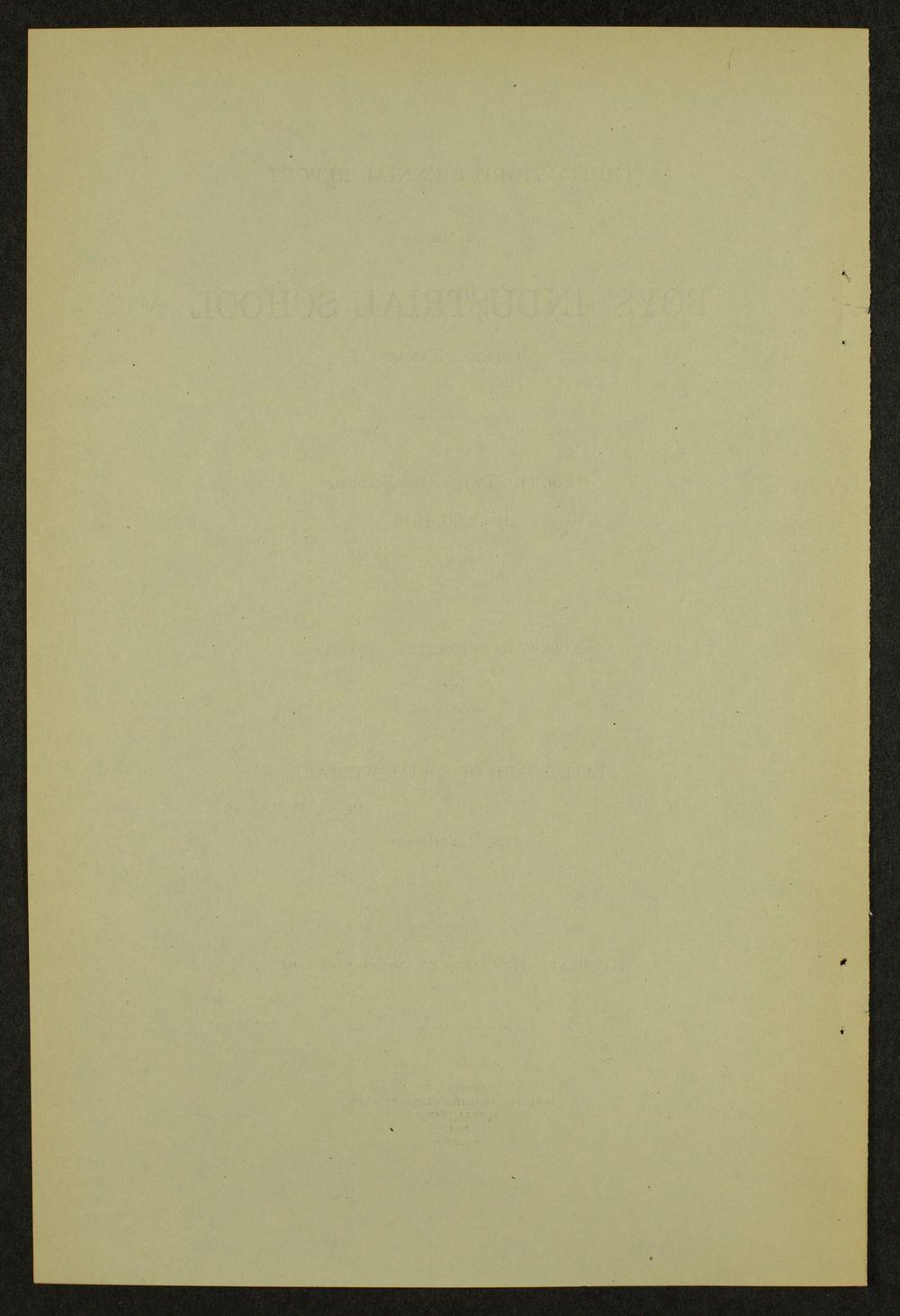 Biennial report of the Boys Industrial School, 1946 - 4