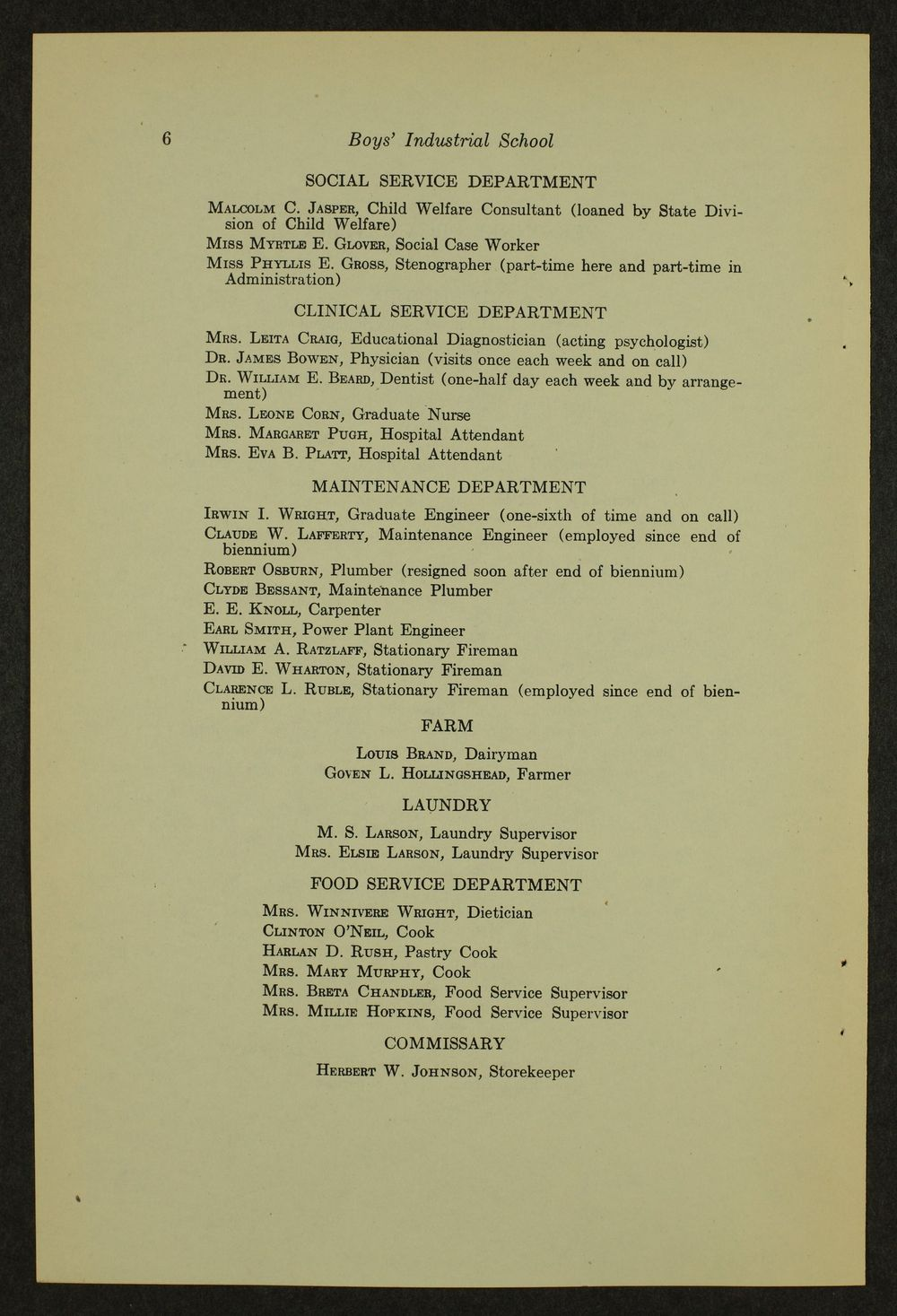 Biennial report of the Boys Industrial School, 1946 - 6