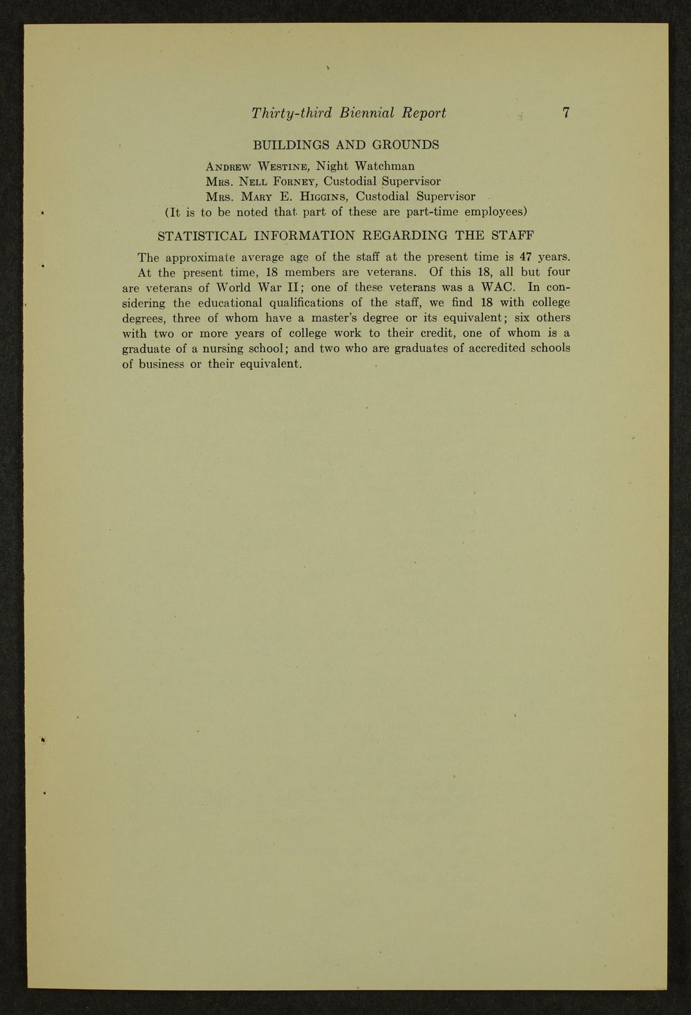 Biennial report of the Boys Industrial School, 1946 - 7