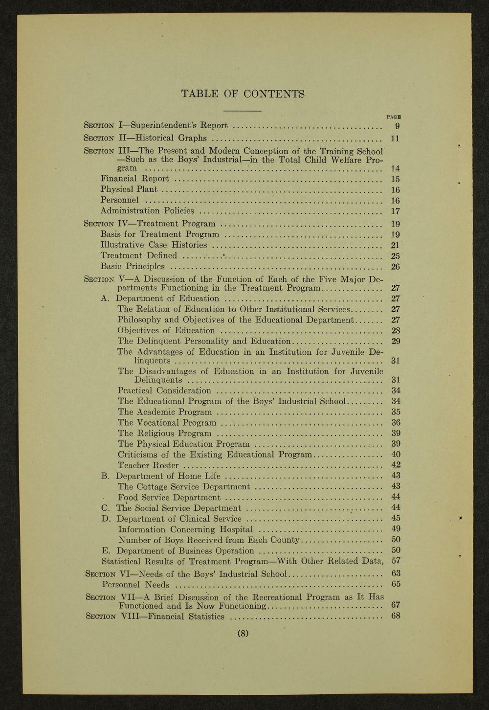 Biennial report of the Boys Industrial School, 1946 - 8