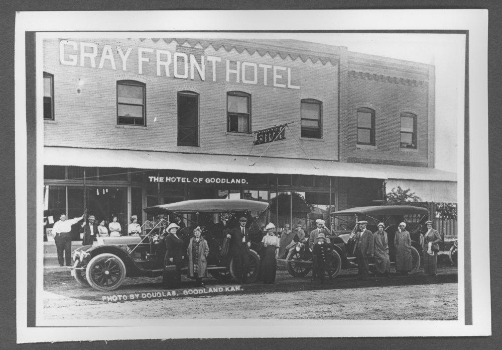 Scenes from Sherman County, Kansas - Gray Front Hotel in Goodland, Kansas