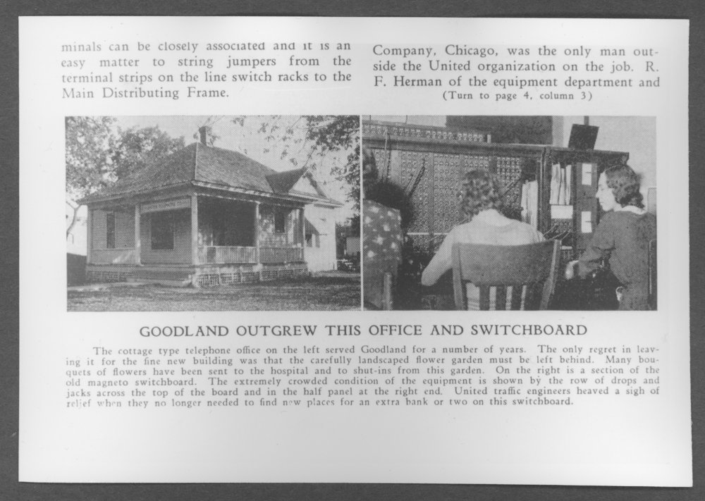 Scenes from Sherman County, Kansas - Third telephone office building in Goodland, Kansas
