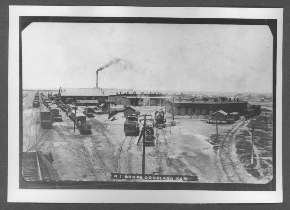 Scenes from Sherman County, Kansas - Rock Island Railway shops in Goodland, Kansas