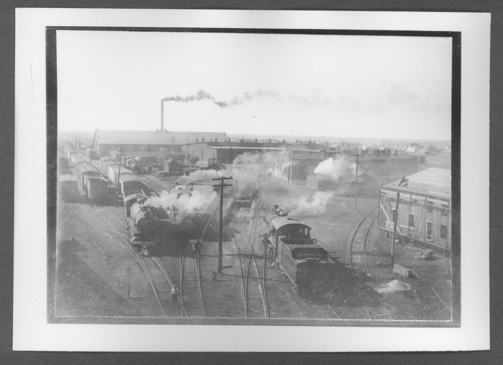 Scenes from Sherman County, Kansas - Railroad shops and engines