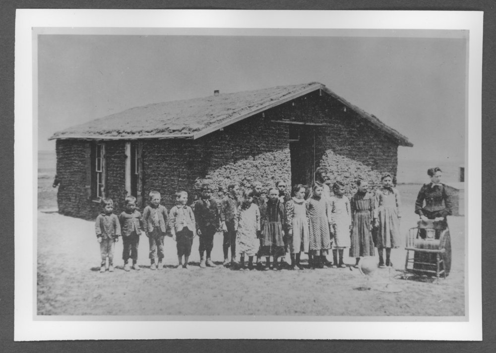 Scenes of Sherman County, Kansas - Smith School, Disctrict #69, Mennonite School at Topland in Iowa Township.
