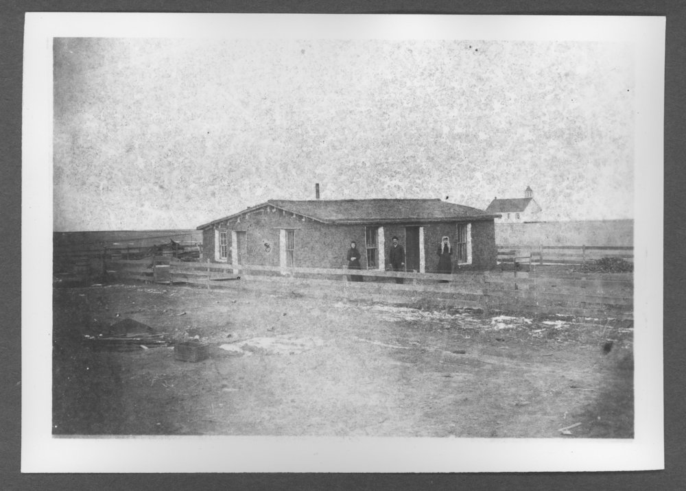 Scenes of Sherman County, Kansas - D.A. Long sod house.