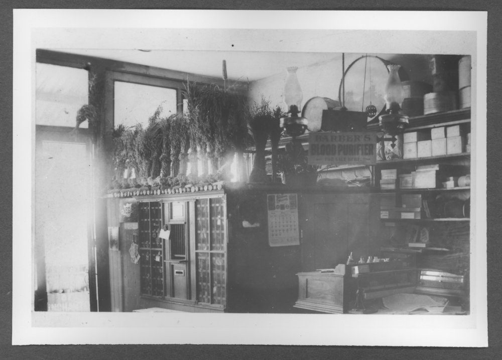 Scenes of Sherman County, Kansas - Ruleton post office in D.A. Long store.