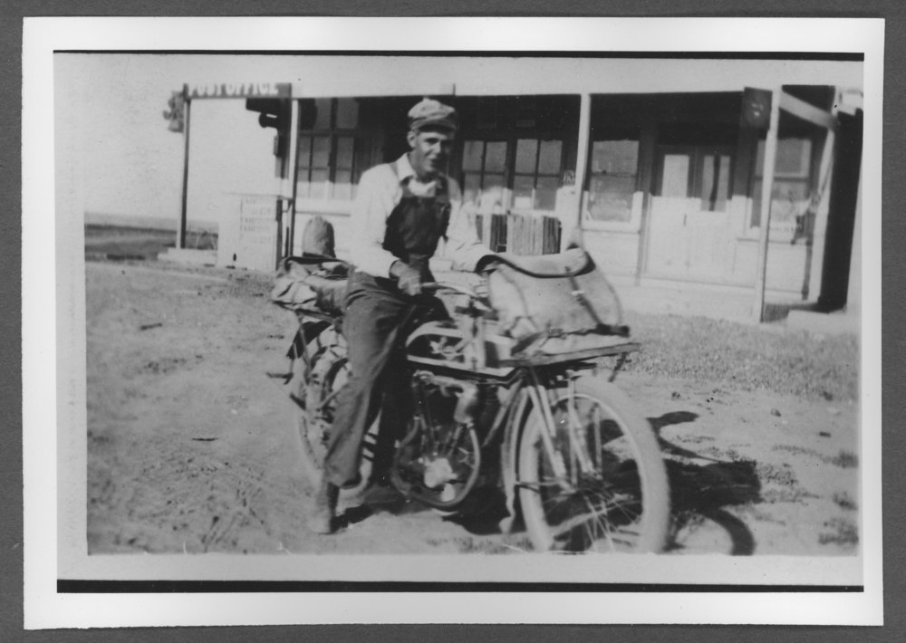 Scenes of Sherman County, Kansas - Rural mail carrier Fred Nolson, on