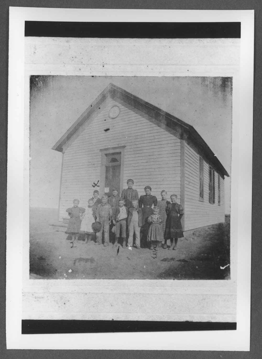 Scenes of Sherman County, Kansas - Muldrow School, about 1898.