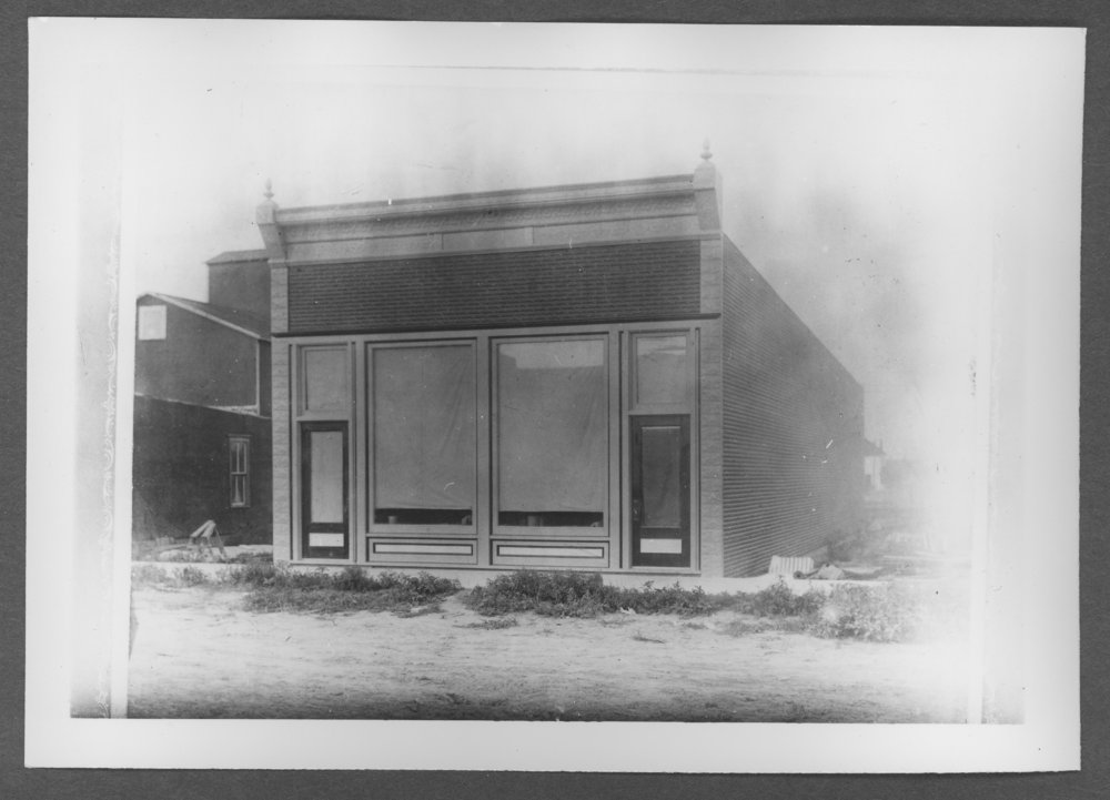 Scenes of Sherman County, Kansas - Goodland's first post office building, later John Kuran's land office around 1905.