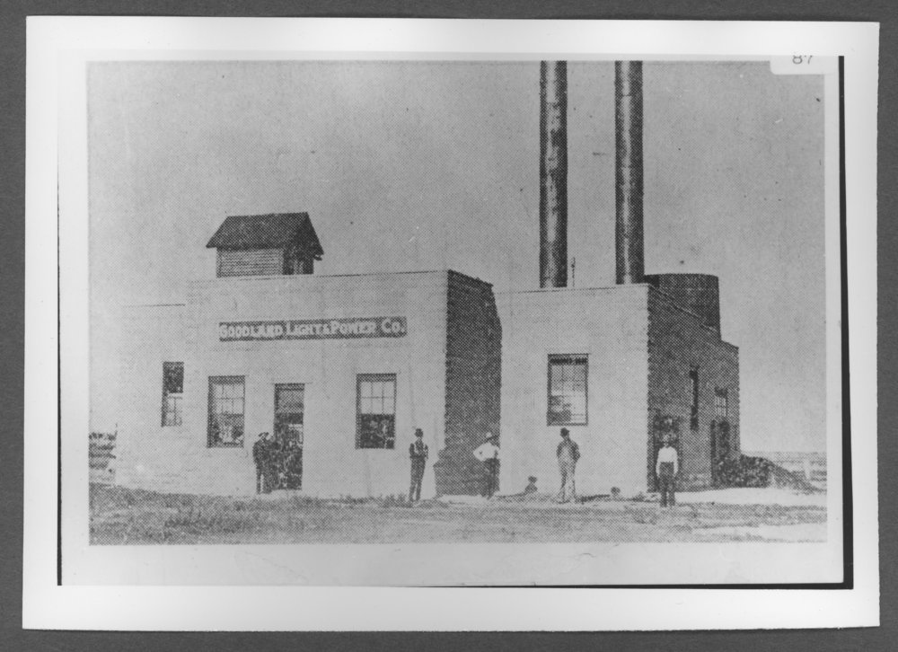 Scenes of Sherman County, Kansas - Goodland Light and Power Company at 17th and Broadway, Goodland, Kansas.