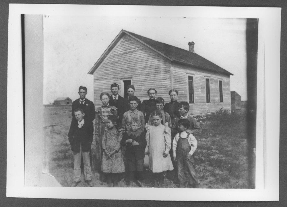 Scenes of Sherman County, Kansas - Kemp School or Pleasant Hill School, District #49.