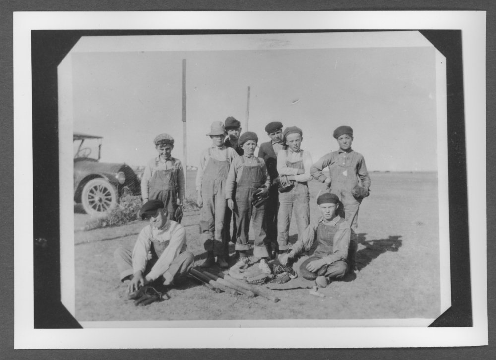 Scenes of Sherman County, Kansas - Junior baseball players in Kanorado, Kansas.