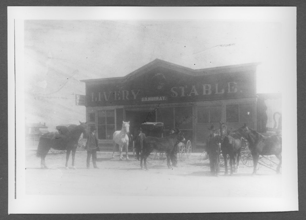Scenes of Sherman County, Kansas - Henry J. Piper livery stable, formerly owned by G.B. Murry.
