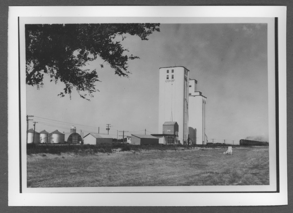 Scenes of Sherman County, Kansas - Co-op elevator in Kanorado, Kansas.