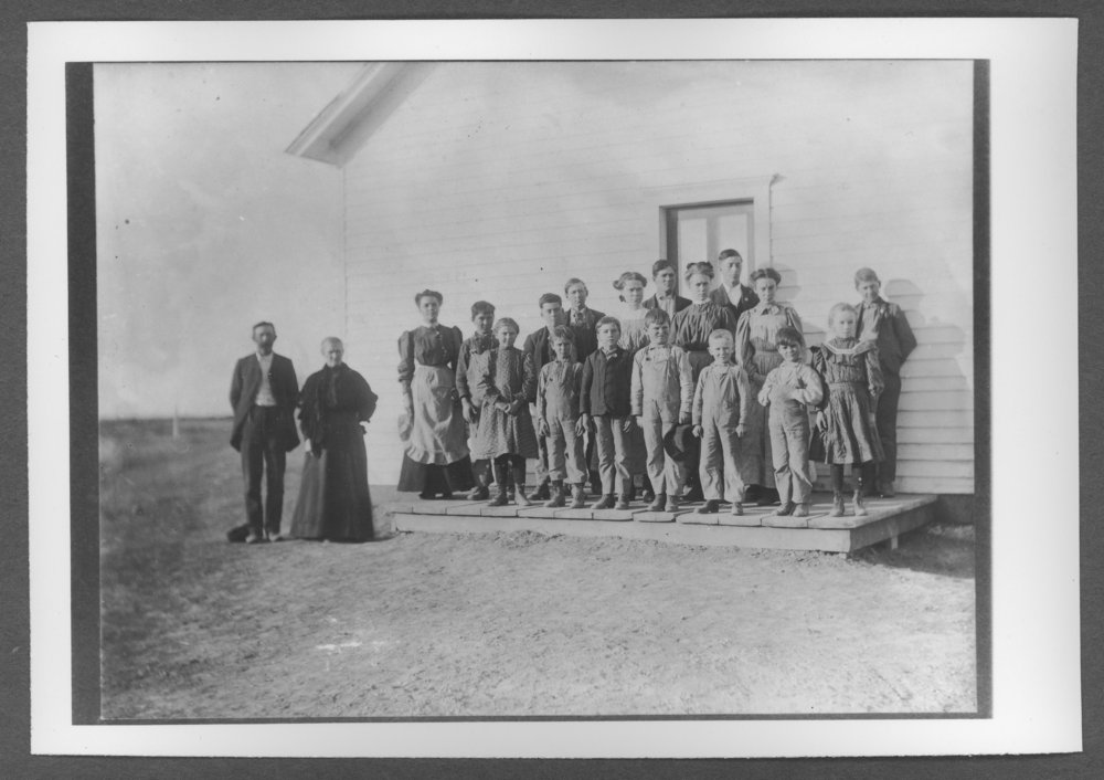 Scenes of Sherman County, Kansas - Students at the Pleasant Hill school.
