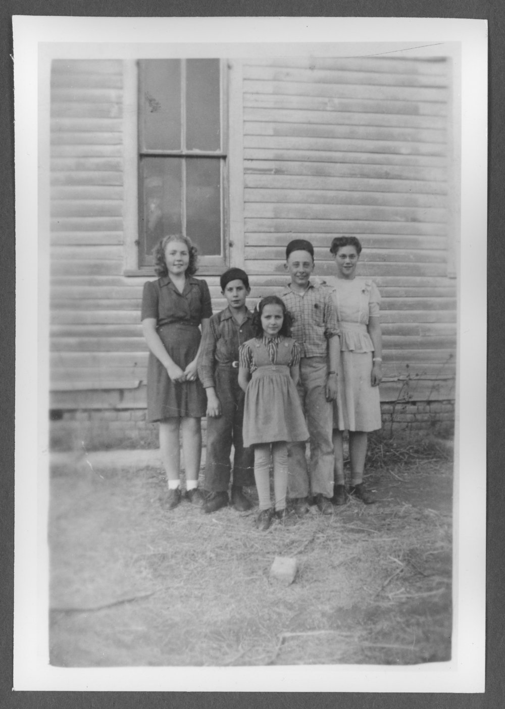 Scenes of Sherman County, Kansas - The last class at Victor School, District 36, Spring 1946.