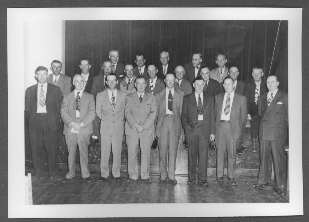 Scenes of Sherman County, Kansas - Railroad safety first meeting, May 29, 1949.