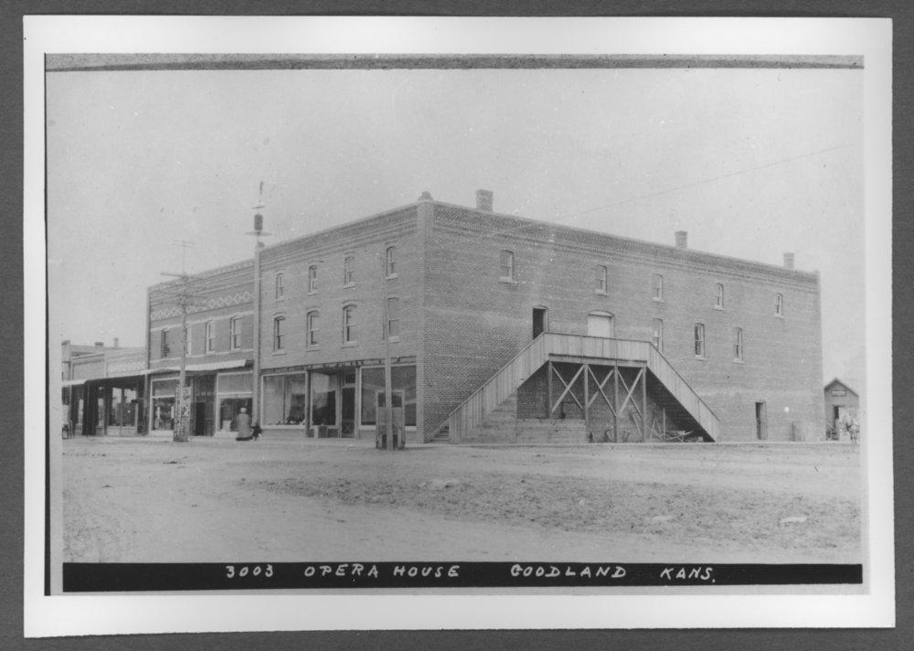 Scenes of Sherman County, Kansas - Opera House at 10th and Main, Goodland, Kansas.