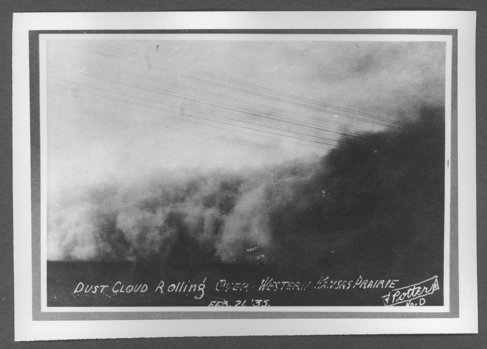Scenes of Sherman County, Kansas - Dust storm in western Kansas, February 21, 1935.