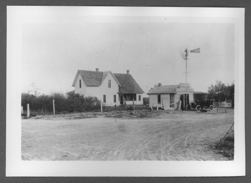 Scenes of Sherman County, Kansas - William and Lillie Laughlin farm home, ten miles south and three miles esat of Goodland, Kansas.