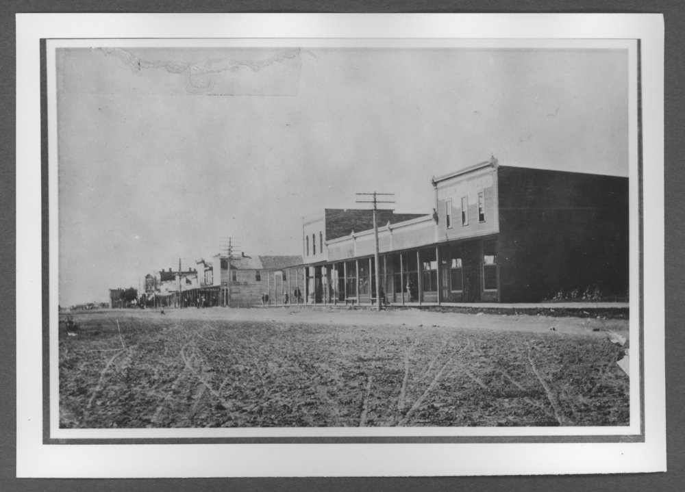 Scenes of Sherman County, Kansas - Looking south from 10th and Main in Goodland, Kansas, about 1903.