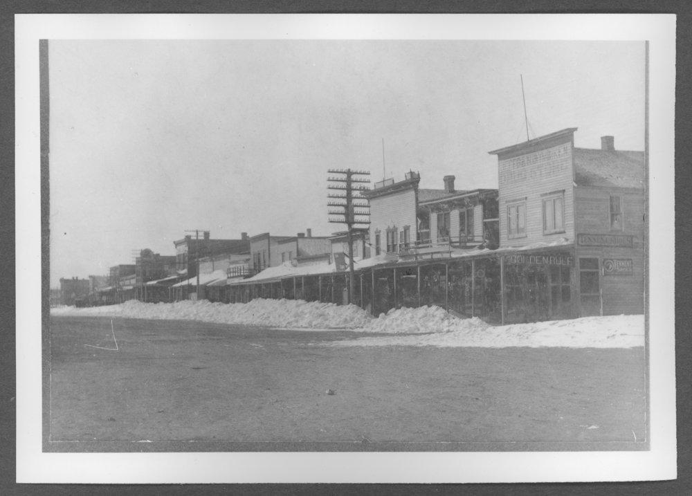 Scenes of Sherman County, Kansas - Telephone office above Ennis building in Goodland, Kansas, 1903.