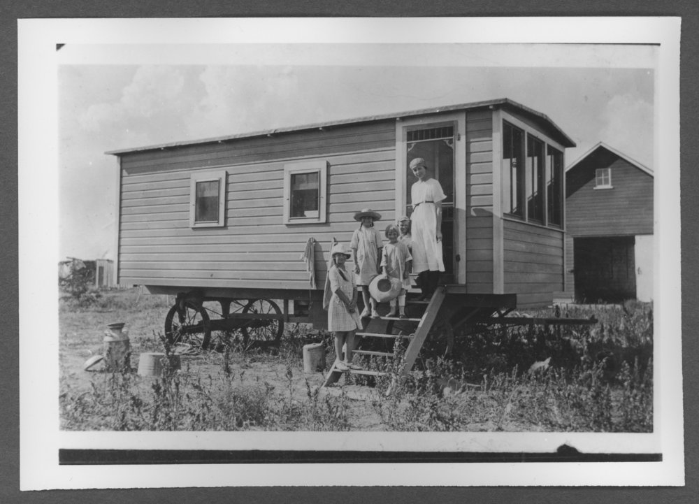 Scenes of Sherman County, Kansas - Cook shack, 1920-1921.