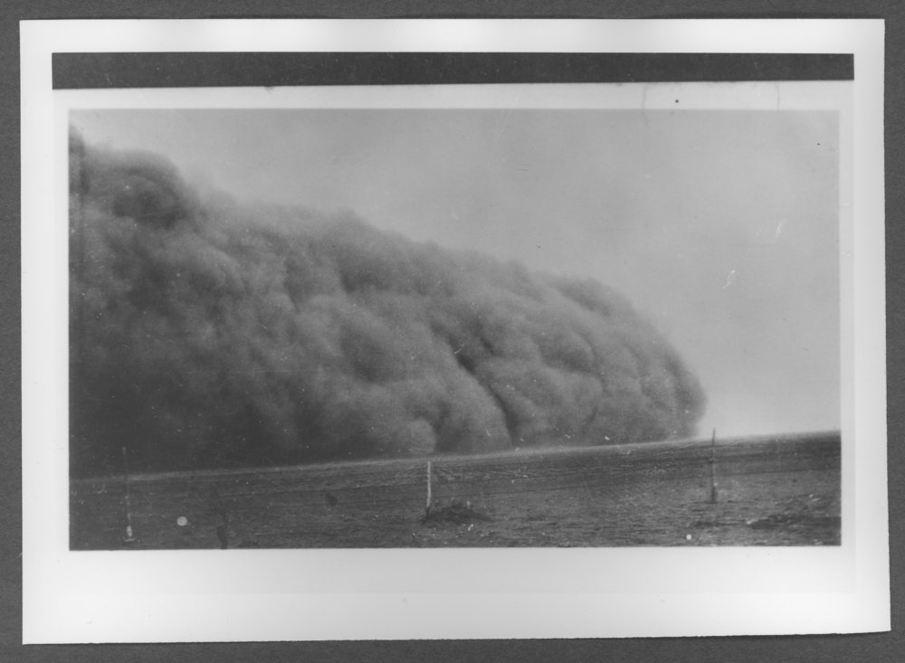 Scenes of Sherman County, Kansas - Dust storm in western Kansas, 1930's.