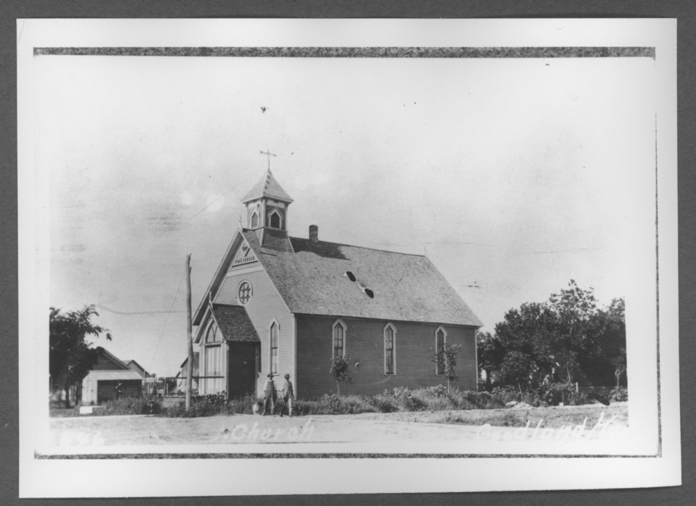 Scenes of Sherman County, Kansas - First Methodist Episcopal Church in Goodland, Kansas.  The church was built between 1887-1888.