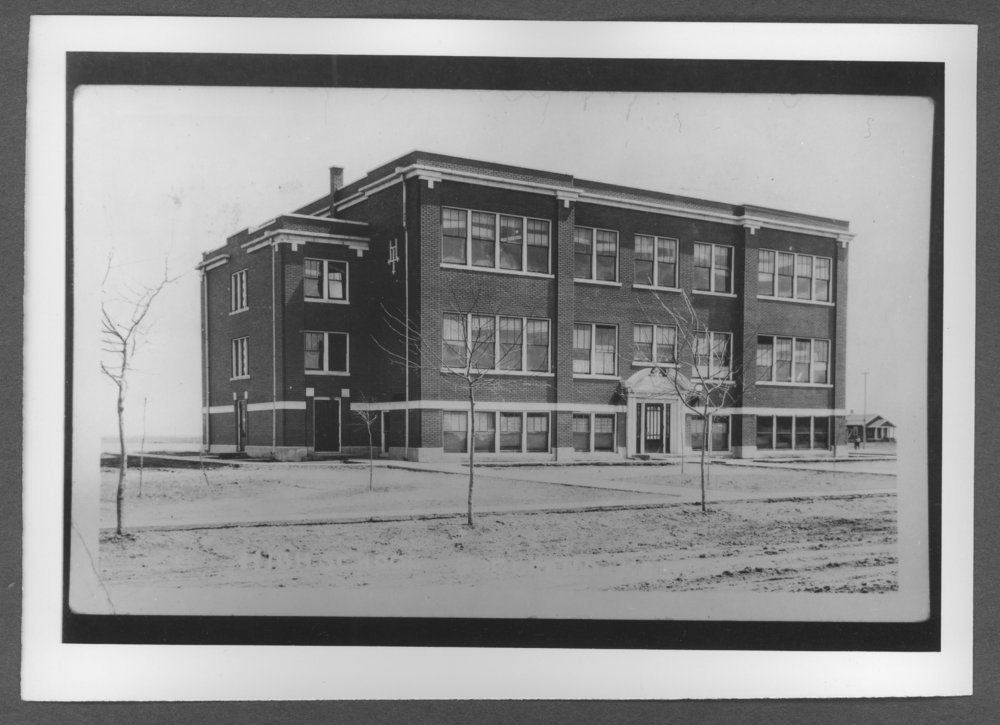 Scenes of Sherman County, Kansas - Goodland's third high school, SCHS, on Cherry Street between 12th and 13th in Goodland, Kansas.
