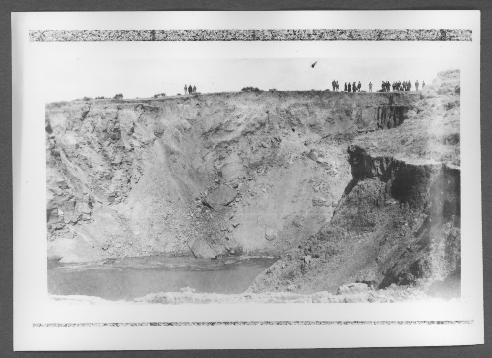 Scenes of Sherman County, Kansas - Sink hole in Wallace County, March 14, 1926.