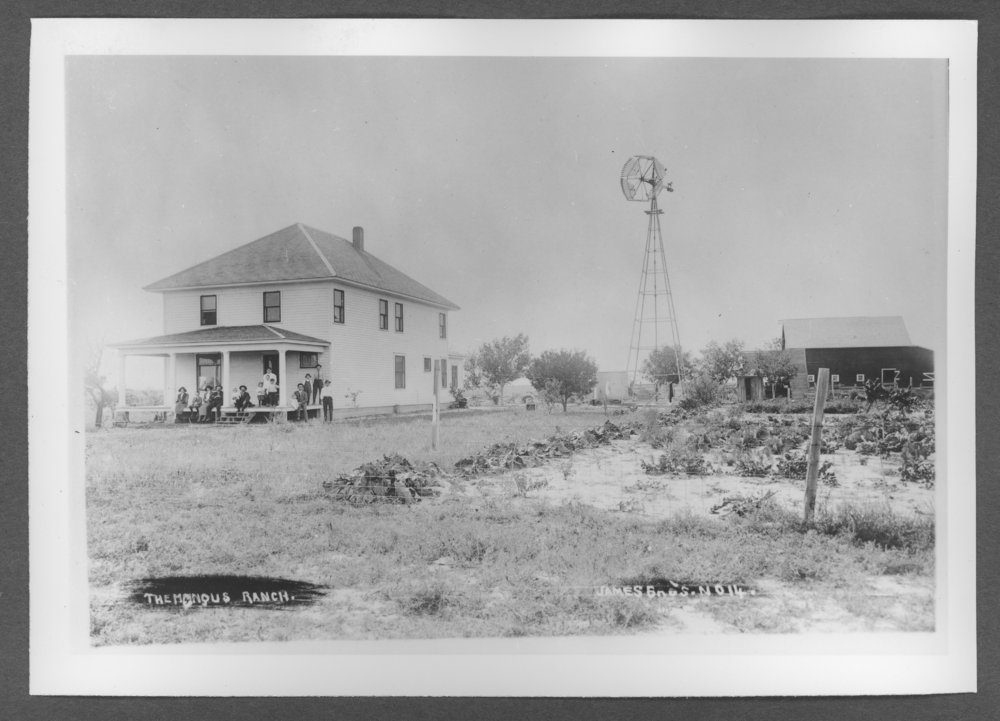 Scenes of Sherman County, Kansas - Mangus farm house.
