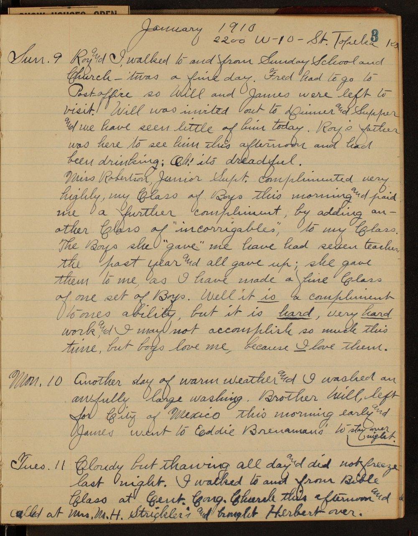 Martha Farnsworth diary - 3