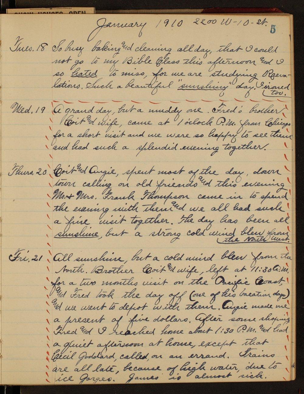 Martha Farnsworth diary - 5