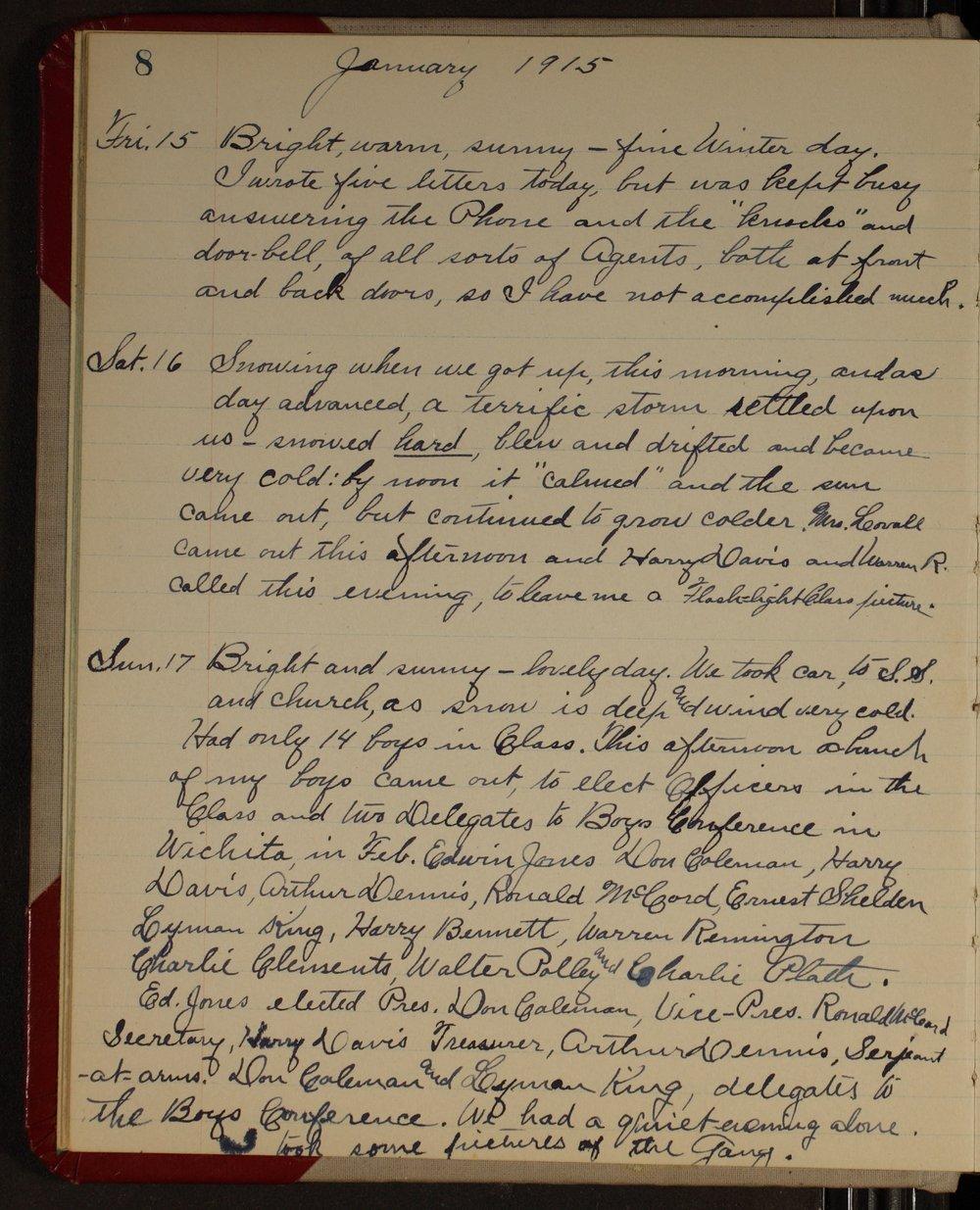 Martha Farnsworth diary - [page 8]