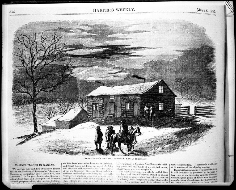 Governor Geary's residence, Lecompton, Territorial Kansas