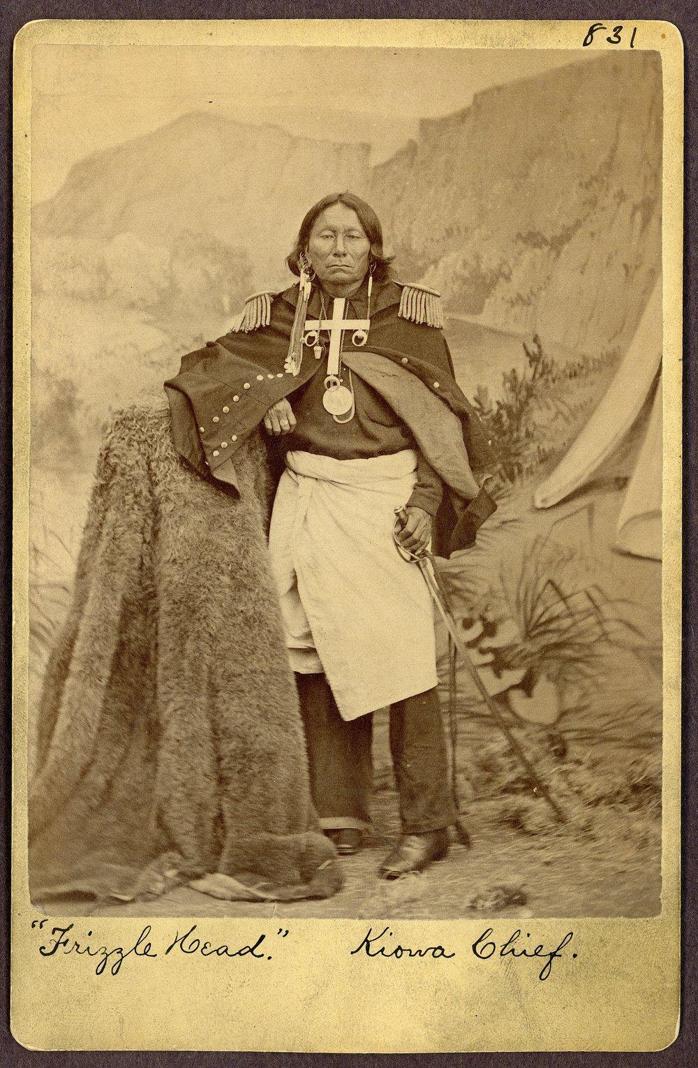 Frizzle Head, Kiowa, in Indian Territory - 1