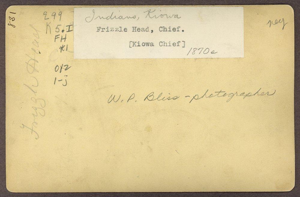 Frizzle Head, Kiowa, in Indian Territory - 2