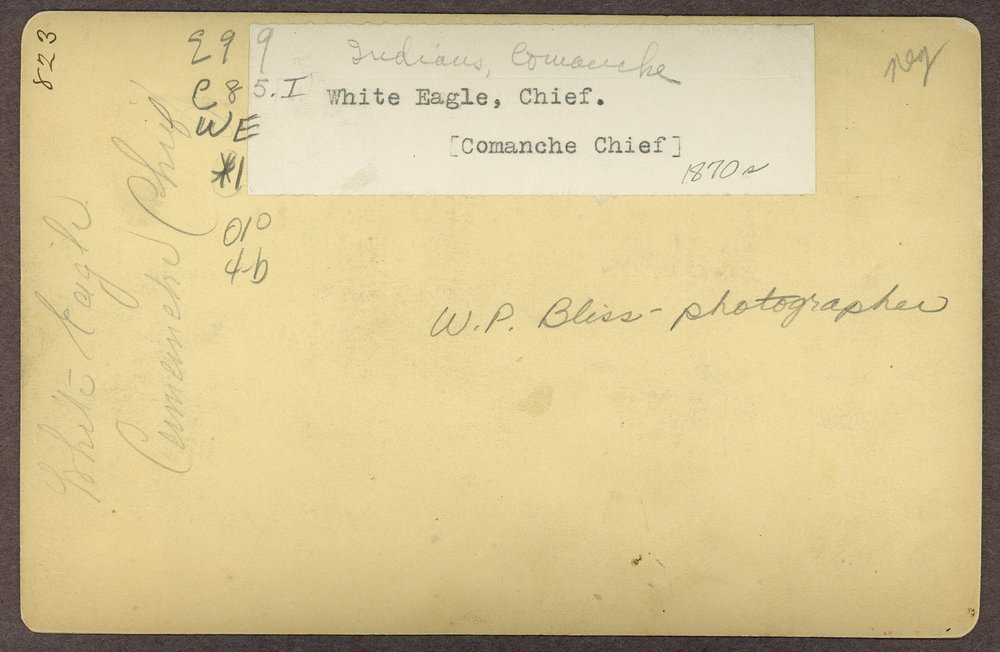 White Eagle, Comanche, in Indian Territory - 2
