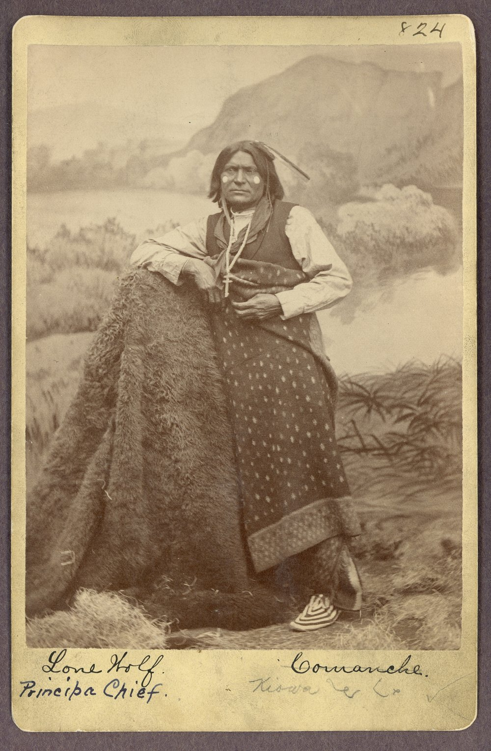 Comanche man in Indian Territory - 1