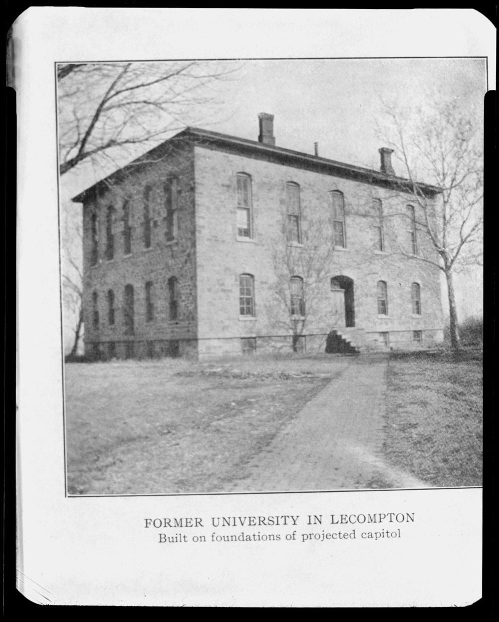 Several views of Lane University in Lecompton, Kansas - *30