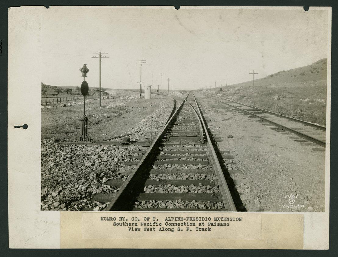 Kansas City, Mexico & Orient Railroad tracks, Paisano, Texas