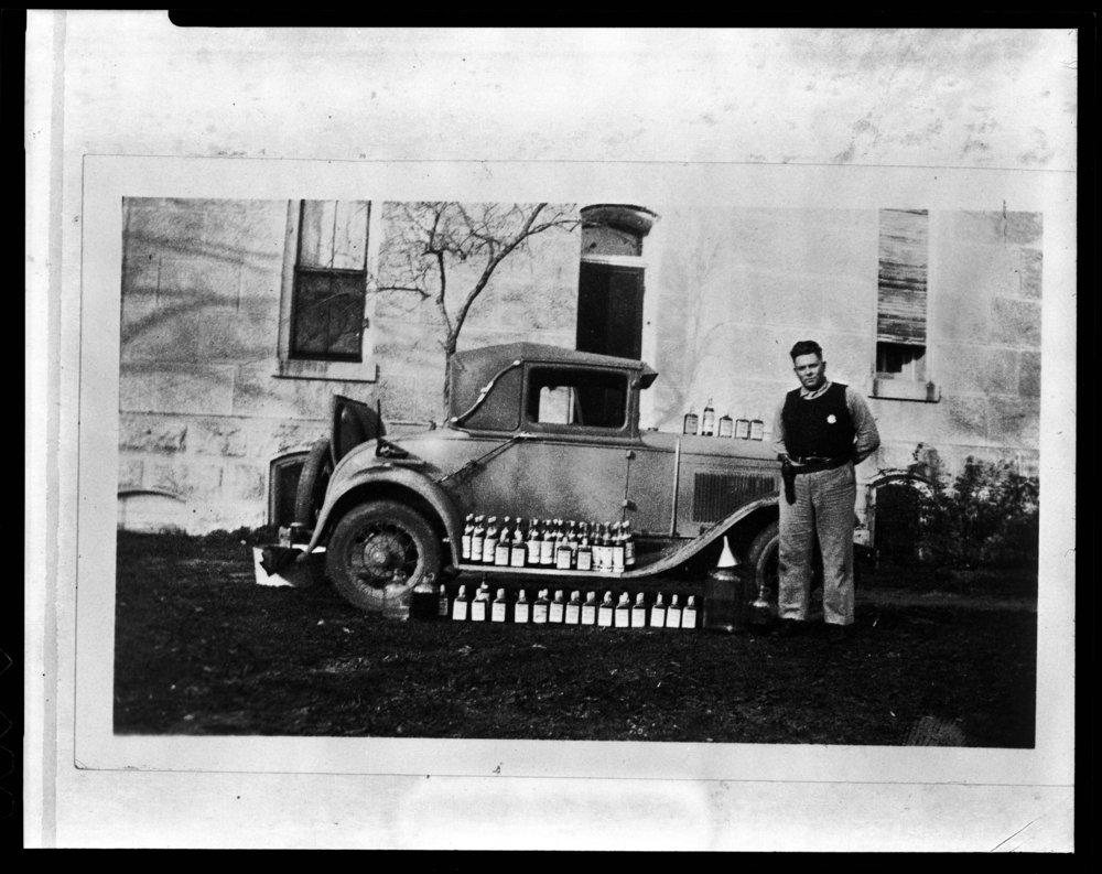 Confiscated liquor, Cottonwood Falls, Kansas - 2